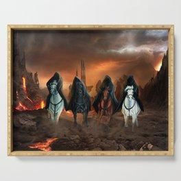 Four Horsemen Of The Apocalypse Serving Tray