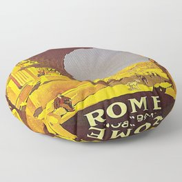 Vintage poster - Rome Floor Pillow