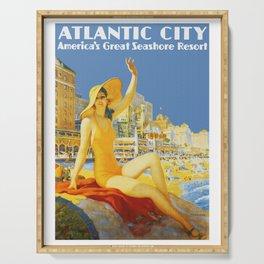 Atlantic City New Jersey - Retro Travel Serving Tray
