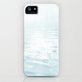 Aqua blue - abstract sea water surface. iPhone Case