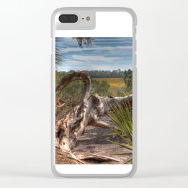 Driftwood twisted and bent Clear iPhone Case