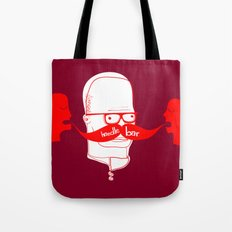 Documenting the Discovery of the Handlebar Mustache Tote Bag