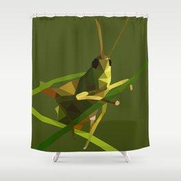 Grasshopper Illustration Shower Curtain