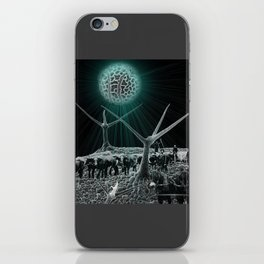 Logging the microscopic outback iPhone Skin