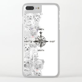 North South East & Westie Dog Clear iPhone Case