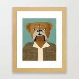 Mike The Bulldog Framed Art Print
