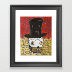 The spontaneously monsterfied account of the Lincoln Calavera and the hat he should have never worn. Framed Art Print