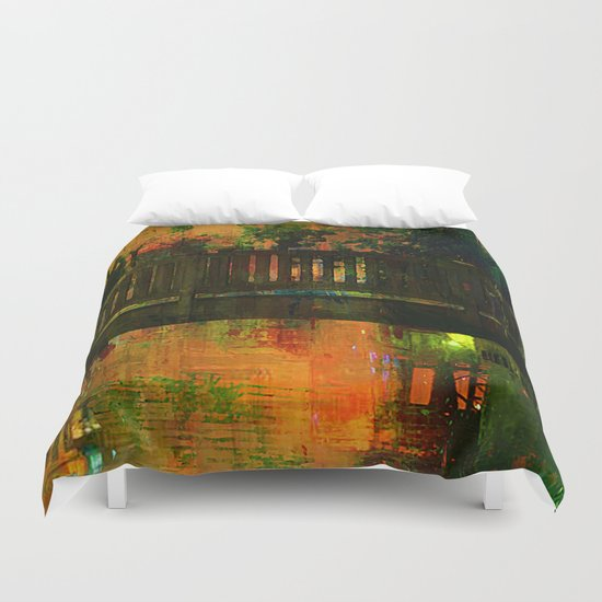 The bridge of Central Park Duvet Cover
