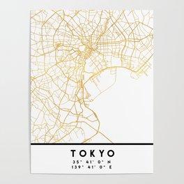 TOKYO JAPAN CITY STREET MAP ART Poster