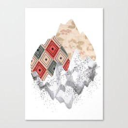 montañas collage Canvas Print