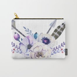 Tribal Floral Arrows Carry-All Pouch