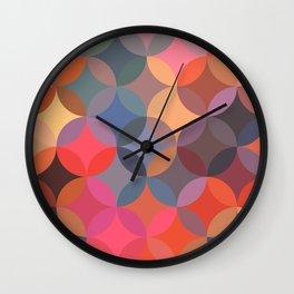 Moroccan pattern multicolor Wall Clock
