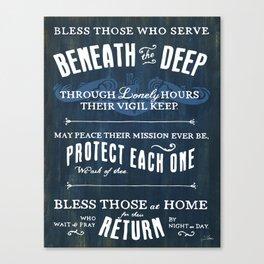 Submariners' Hymn Canvas Print