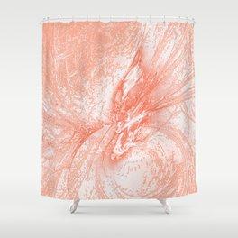 Splatter in Guava Shower Curtain