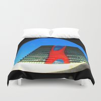 barcelona Duvet Covers featuring barcelona by Joan-Ma Espinosa