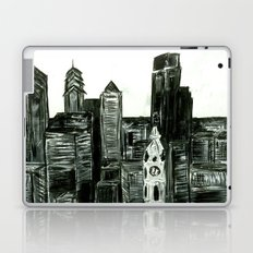 Black and White Philly Skyline Laptop & iPad Skin