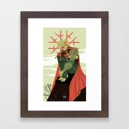 8 of Swords Framed Art Print