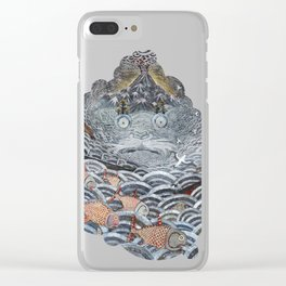 Golden Fishes Clear iPhone Case