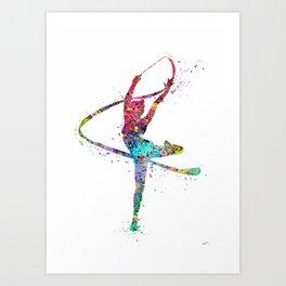Rhythmic Gymnastics Print Sports Print Watercolor Print Art Print
