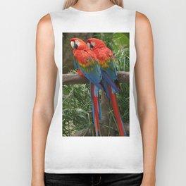 Scarlet Macaws Biker Tank
