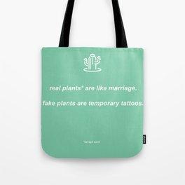 plants: light green Tote Bag