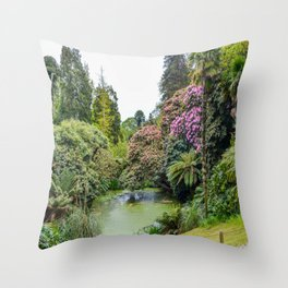 The Lost Gardens of Heligan - Top Pond Throw Pillow