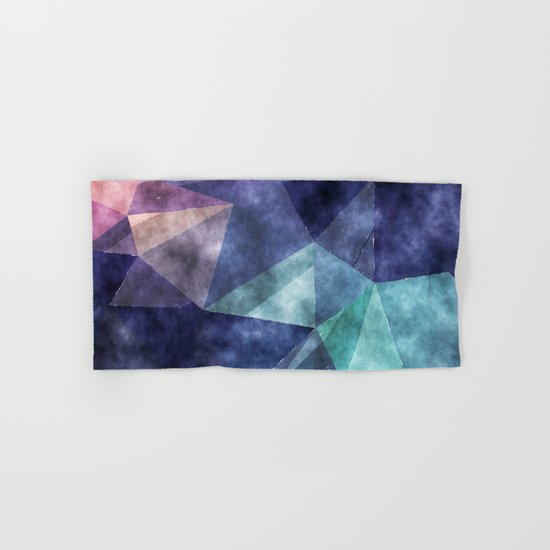 The deep blue sea- Watercolor triangles pattern in blue colors Hand & Bath Towel