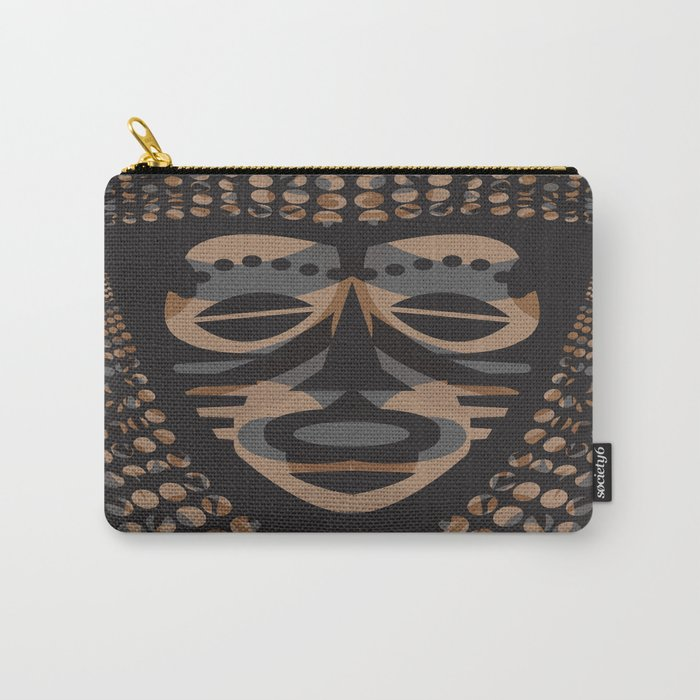 African Tribal Mask No. 1 Carry-All Pouch