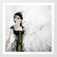 angel Art Prints featuring Angel by Melissa Smith