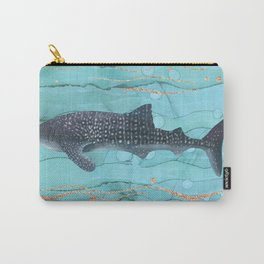 Whale Shark Swimming in the Emerald Ocean Carry-All Pouch