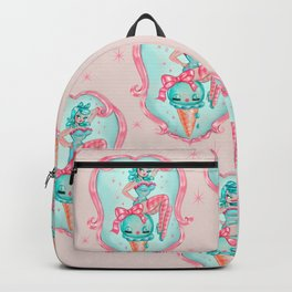 Candy Blue Ice Cream Pin Up Doll Backpack