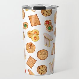 Biscuits, cookies, sweets and pastries Illustration | Food illustration Travel Mug