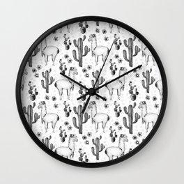 Llama Llamarama + Cactus 2 Wall Clock