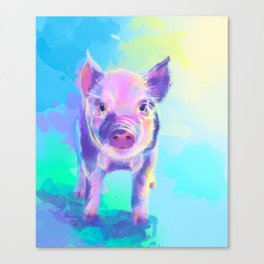 Once Upon a Pig - digital painting Canvas Print