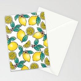 Digital Lemon Pattern Stationery Cards