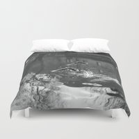 ducks Duvet Covers featuring Ducks by Rose Etiennette