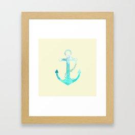 AFE Watercolor Ship Anchor Framed Art Print