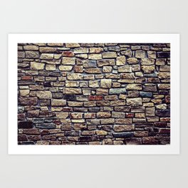 Brick Wall Pattern Art Print