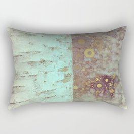 Autumn Birch Tree Abstract Rectangular Pillow