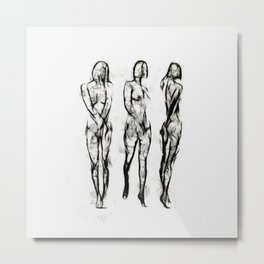 The Three Graces Metal Print