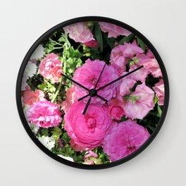 Vibrant Pink Chrysanthemums Wall Clock