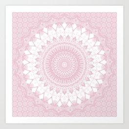 Boho Pink Mandala Art Print