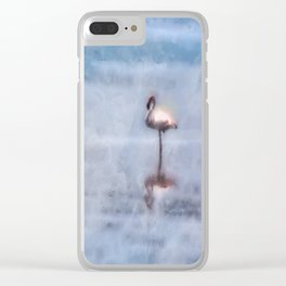 Watercolor Flamingo Clear iPhone Case