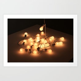 String Lights Art Print