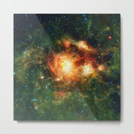 696. Stellar Storm of Infrared Light Metal Print