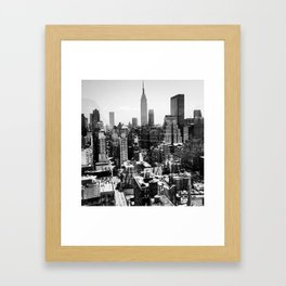 THE VIEW FROM HELL'S KITCHEN BY Cd KIRVEN Framed Art Print