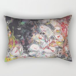 Gelli Print Rectangular Pillow