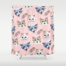 Cat Attack Shower Curtain