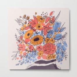February Florals Metal Print