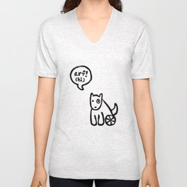 Arf means Hi! Unisex V-Neck